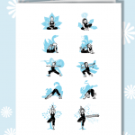 Breezy Tree yoga print cards