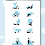 Erruption Disruption yoga print cards